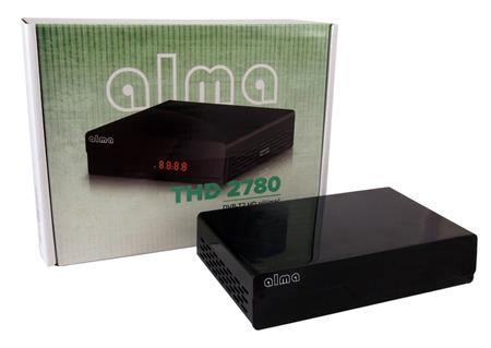 ALMA DVB-T2 HD přijímač 2780 černý s displejem