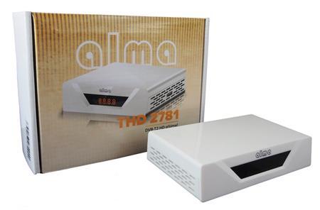 ALMA DVB-T2 HD přijímač 2781 bílý s displejem