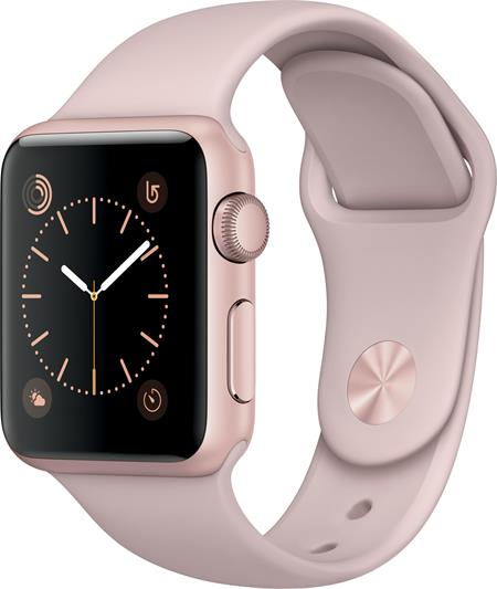 Apple Watch Series 1, 38mm Rose Gold Aluminium Case with Pink Sand Sport Band; MNNH2CN/A