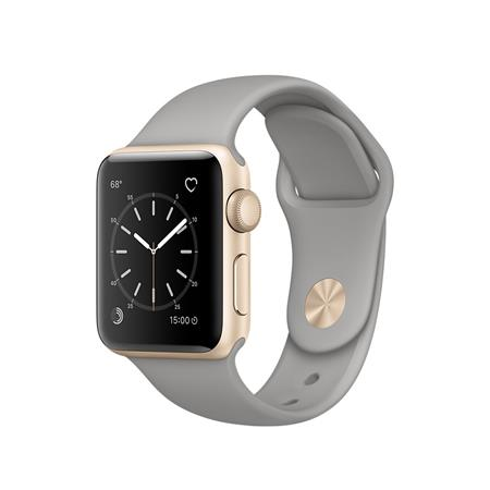 Apple Watch Series 2, 38mm Gold Aluminium Case with Concrete Sport Band