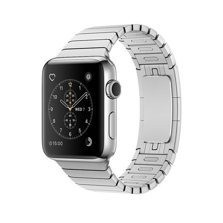 Apple Watch Series 2, 38mm Stainless Steel Case with Silver Link Bracelet; MNP52CN/A