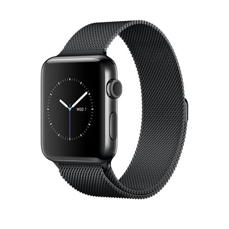 Apple Watch Series 2, 42mm Space Black Stainless Steel Case with Space Black Milanese Loop