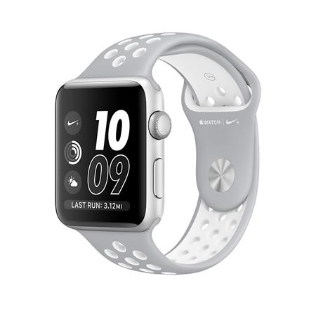 Apple Watch Nike+, 42mm Silver Aluminium Case with Flat Silver/White Nike Sport Band