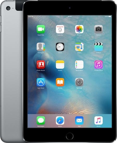 iPad mini 4 Wi-Fi Cell 128GB Space Gray; MK762FD/A