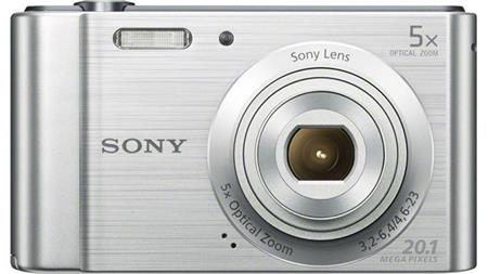 Sony Cyber-Shot DSC-W800m, stříbrný; DSCW800S.CE3