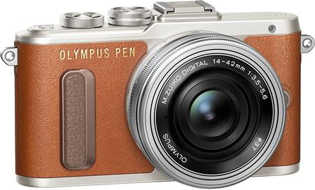 Olympus E-PL8 1442 Pancake Zoom Kit brown/slv; V205082NE000