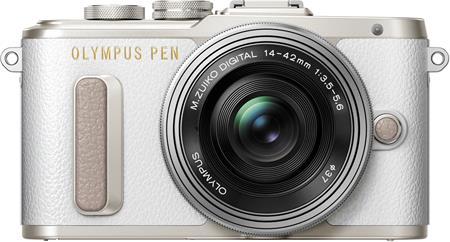Olympus E-PL8 1442 Pancake Zoom Kit white/slv; V205082WE000
