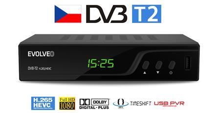 EVOLVEO Omega T2, HD DVB-T2 H.265 / HEVC multimediální rekordér, HDMI, SCART, USB,