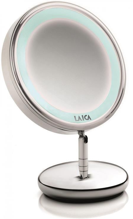 LAICA PC5004 - Osvětlené kosmetické zrcátko, průměr 153cm 5x zvětšení