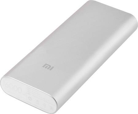 Xiaomi Powerbank 16000 mAh - externí bateriový zdroj, Dual USB, stříbrná