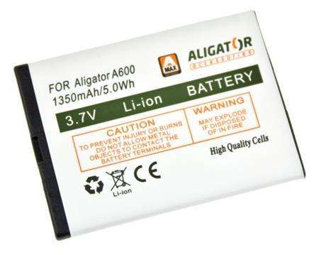 Baterie ALIGATORA600/A610/A620/A430/A680, Li-Ion 1350 mAh; A600BAL