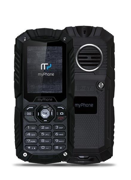 myPhone HAMMER PLUS TELEFON ČERNÝ