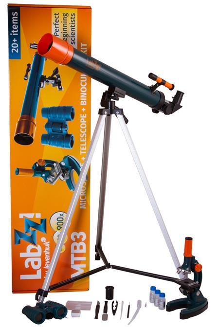 Levenhuk LabZZ MTB3 Microscope & Telescope & Binoculars Kit; 69698
