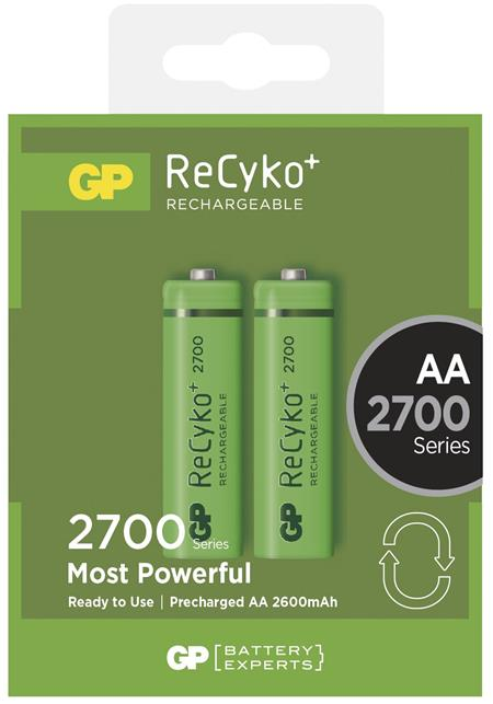 Nabíjecí baterie GP NiMH 2700 HR6 (AA), blistr 2ks; 1032212130