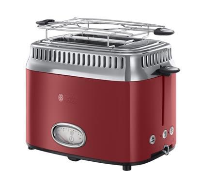 Russell Hobbs 21680/56 - nerezový topinkovač, červený; 21680/56