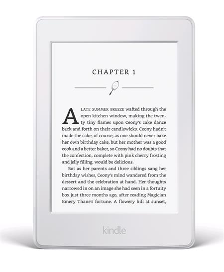 "Amazon Kindle Paperwhite 3 2015 WHITE, 6"" 4GB E-ink, WIFI, BEZ REKLAM + 100 knih ZDARMA, čtečka; EBKAM1141"