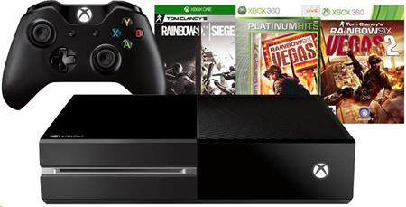 Microsoft XBOX ONE 1TB + 3 x hra (Tom Clancy's Rainbow Six Siege + Rainbow Six Vegas 1 & 2)