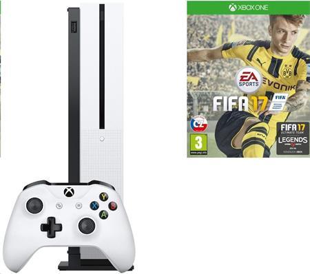 Microsoft XBOX ONE S 500 GB + 1 x hra (FIFA 17) + 1 měsíc EA Access; ZQ9-00056