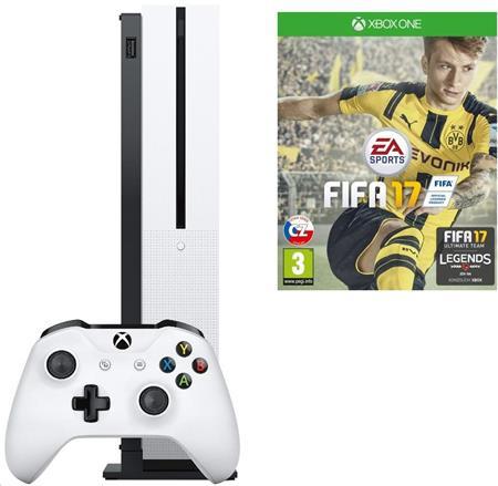 Microsoft XBOX ONE S 1 TB + 1 x hra (FIFA 17) + 1 měsíc EA Access