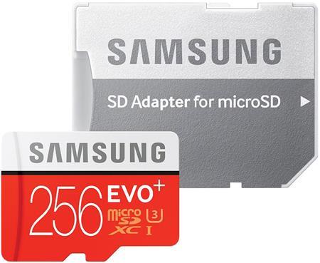 Samsung Micro SDXC 256GB EVO plus