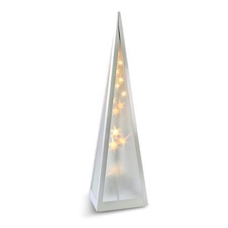 Solight LED vánoční pyramida, otáčecí, 3D efekt světla, 45cm, 230V, teplá bílá; 1V44