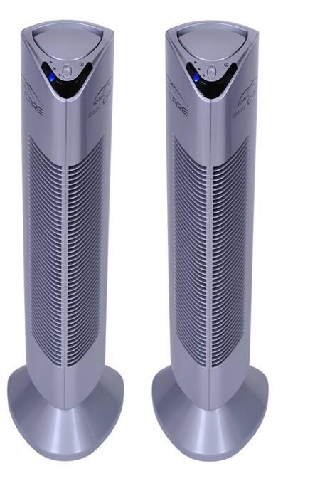 Ionic-CARE - 2x Triton X6 stríbrná čistička vzduchu a ionizátor; Triton X6 stríbrná 2x