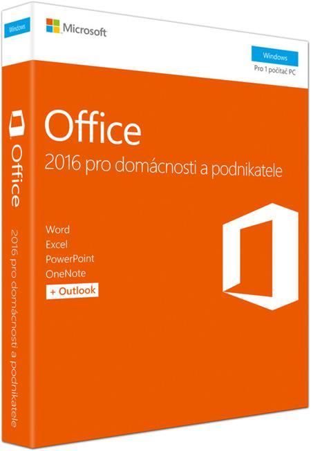 Microsoft Office 2016 pro domácnosti a podnikatele (CZ) 7ks + DZ 2017; T5D-02737