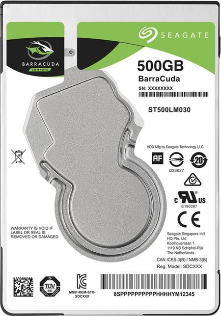 Seagate BarraCuda 500GB HDD 2.5''; ST500LM030