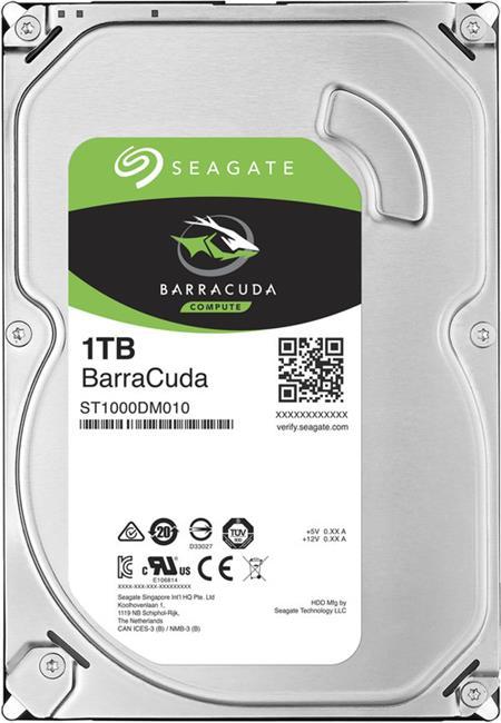 Seagate Barracuda 7200 1TB 3.5'' HDD, SATA/600 NCQ, AFT, 7200RPM, 64MB cache; ST1000DM010