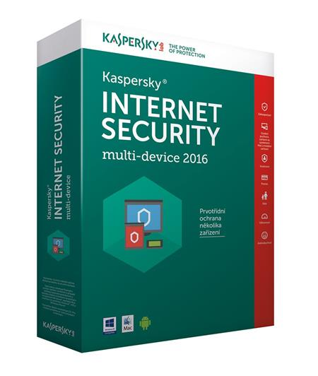 Kaspersky Internet Security MD 2016/2017 CZ 4 zařízení; KL1941OCDFS