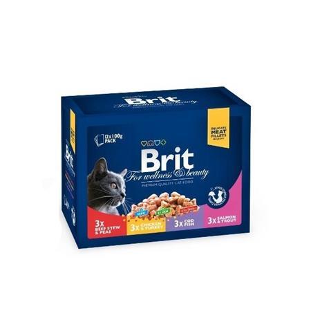Brit Premium Cat kapsa Family Plate 1200g (12x100g)