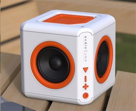 PowerCube Audiocube Portable, white/orange