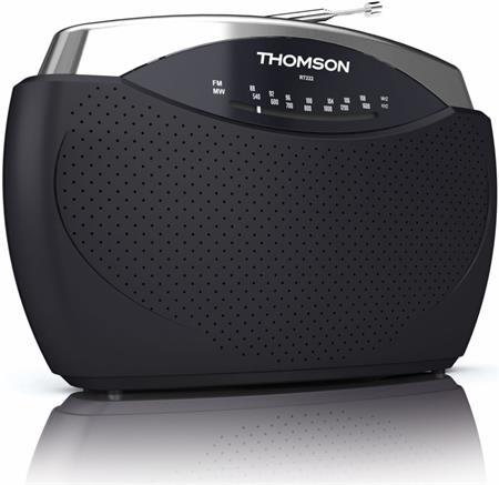 Thomson RT222 - přenosné rádio FM/AM - šedé