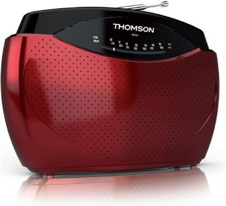 Thomson RT223 - přenosné rádio FM/AM - červené