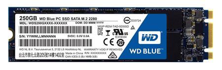 WD blue SSD 250GB interní, SATAIII 2280, M.2 ; WDS250G1B0B