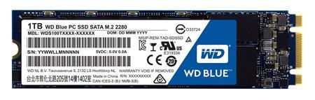 WD blue SSD 1TB interní, SATAIII 2280, M.2 ; WDS100T1B0B