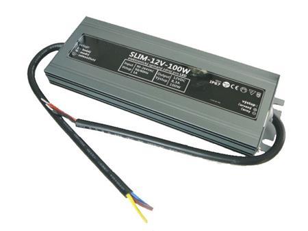 LEDme SLIM voděodolný LED napájecí zdroj 100W 12V IP67; NJ-IP-S-100W-12V