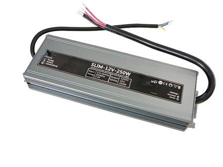 LEDme SLIM voděodolný LED napájecí zdroj 250W 12V IP67; NJ-IP-S-250W-12V