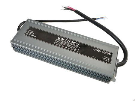 LEDme SLIM voděodolný LED napájecí zdroj 300W 12V IP67; NJ-IP-S-300W-12V