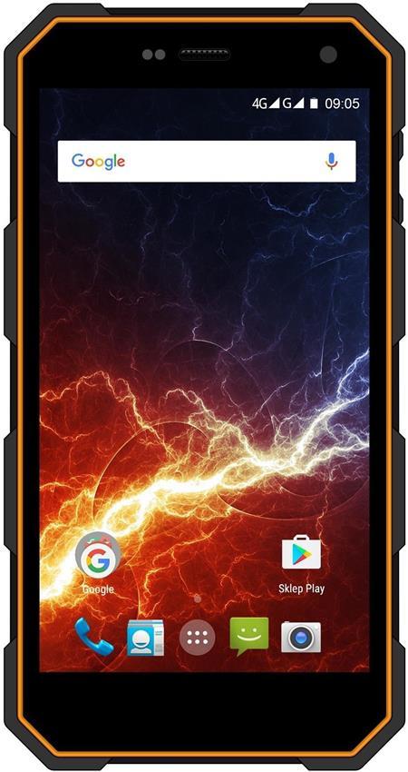 myPhone HAMMER ENERGY ORANŽOVO-ČERNÝ; TELMYAHAENEROR