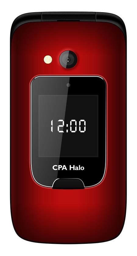 CPA HALO 15 - véčkový telefon červený