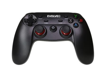 EVOLVEO Fighter F1, bezdrátový gamepad pro PC, PlayStation 3, Android box/smartphone; GFR-F1