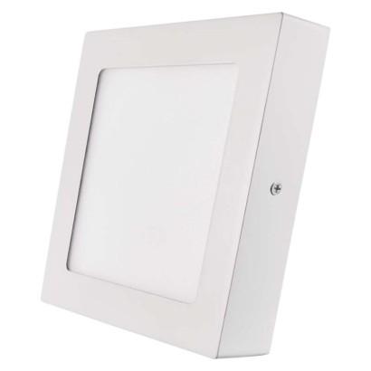 LED přisazené svítidlo, čtverec 12W studená bílá