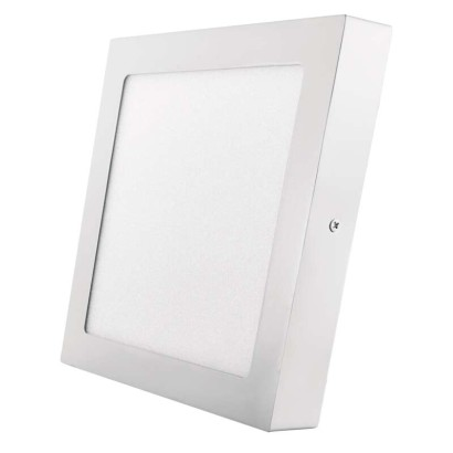 LED přisazené svítidlo, čtverec 18W studená bílá
