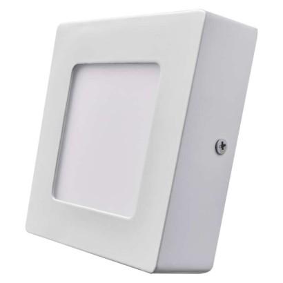 LED přisazené svítidlo, čtverec 6W studená bílá