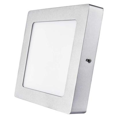 EMOS LED přisazené svítidlo, čtverec stříbrná 12W neutrální bílá *ZM6232; 1539067150