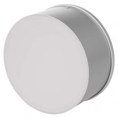 LED přisazené svítidlo, čtverec stříbrná 17W studená bílá