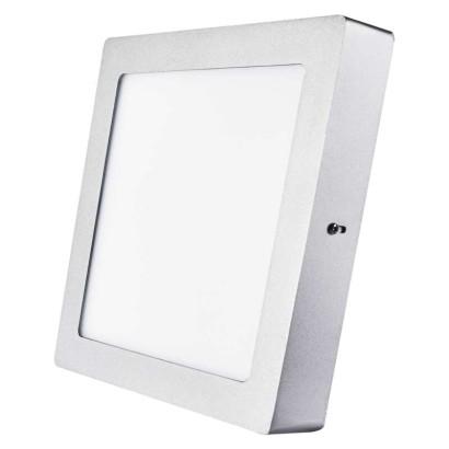 EMOS LED přisazené svítidlo, čtverec stříbrná 18 W neutrální bílá *ZM6242; 1539067160