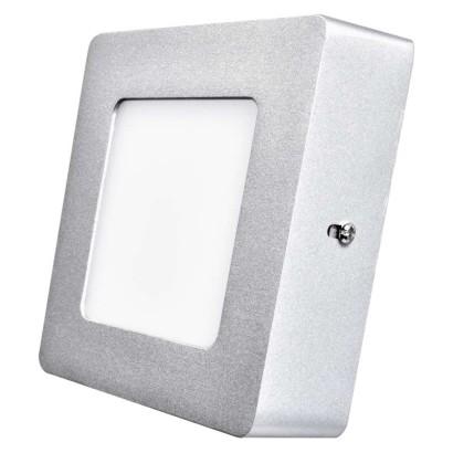 EMOS LED přisazené svítidlo, čtverec stříbrná 6W neutrální bílá *ZM6222; 1539067140