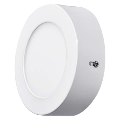 LED přisazené svítidlo, kruh 6W studená bílá